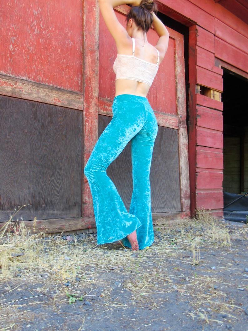 d3fbd06d3de96 TURQUOISE BLUE crushed velvet 70's velour fashion hippie   Etsy