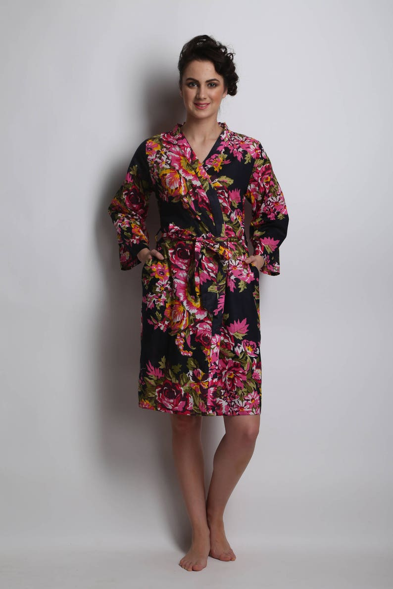 Dressing Gown Kimono for Bride Bridesmaids etc NEW Personalised Wedding Robe