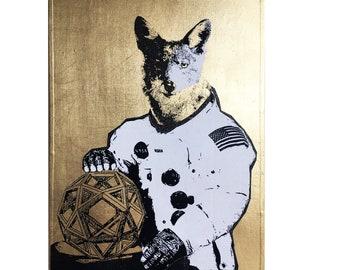 STELLAR COYOTE - Neo Victorian NASA Imagery Artwork