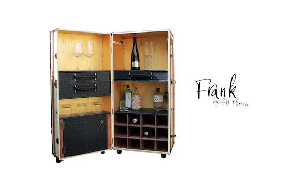 Frank Mid Size Unique Liquor Wine Cabinet Vintage Style Etsy