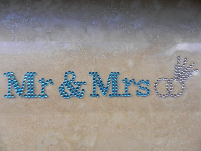 e64e81071d Mr and Mrs Rhinestone Shoe Stickers - Crystal Shoe Set - Bride and Groom  Shoe Decals
