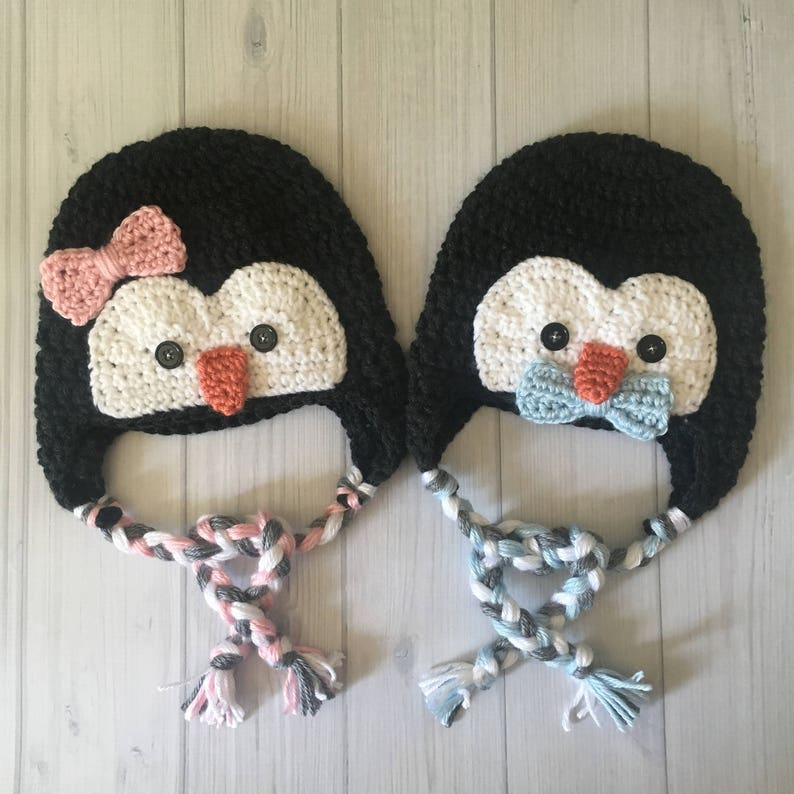 30e2a9796 Penguin Hat Twins Baby Gifts - Twin Baby Christmas Gift - Boy Girl Twins -  Twin Boys - Twin Girls - Twins Baby Shower Gift - Gift for Baby