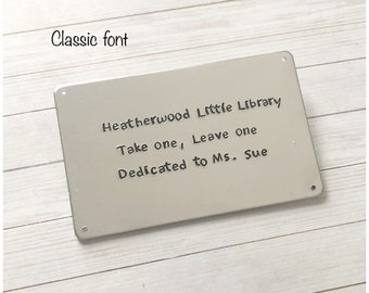 Personalized Display Plaque Personalized with your Text - Hand Stamped Metal Plaque - Customized Aluminum Tag - Custom Credit Card Size Sign