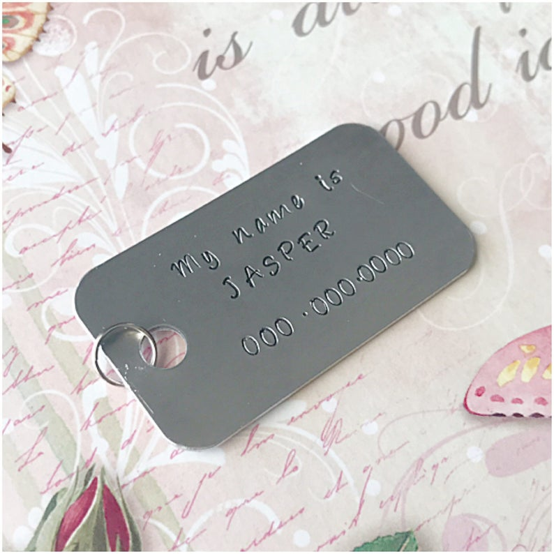 8c6f129a0aa0 My Name Is Pet Tag Phone Number Dog Tag Furry Friend | Etsy