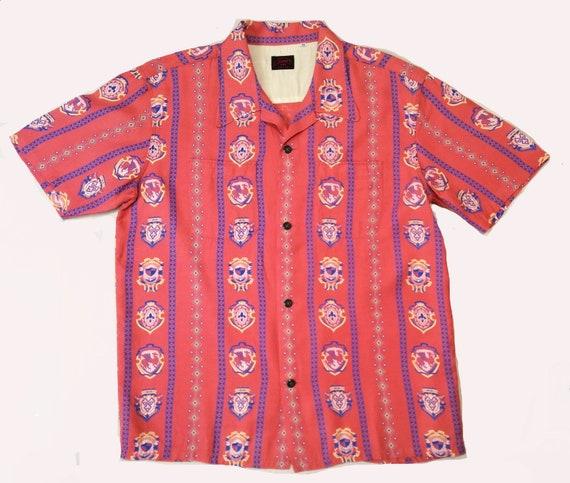 1950s Hawaiian Aloha Shirt Duke Kahanamoky Repro C