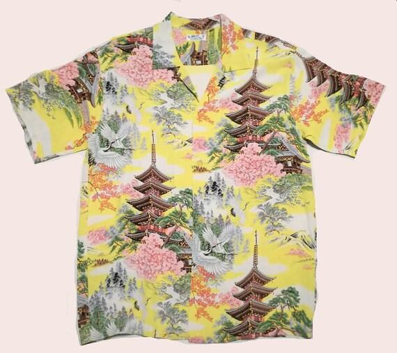1950s Rockabilly Aloha Hawaiian Shirt Repro Sun Su