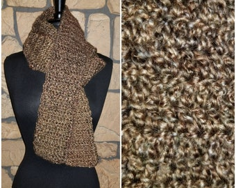 Handmade crochet scarf - Praline