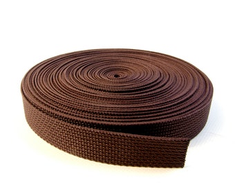 "Webbing, 1"" Inch Polypropylene Mini Roll, Brown, 20 Yards (60 Ft.)"