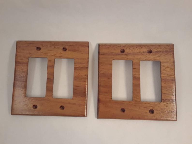 Handmade Hawaiian Koa Wood Light Switch Cover Plate Decora Etsy