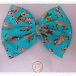 Rudolph the red nosed reindeer holiday hair bow