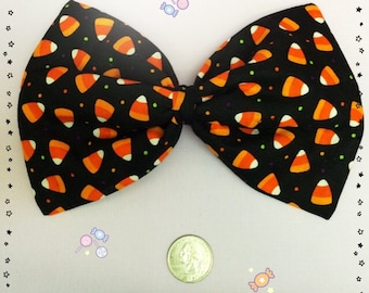 Large Candy Corn Bow