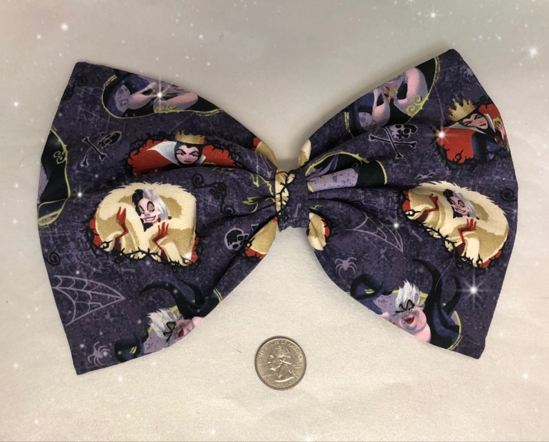 Extra Large Disney Villains hair bow image 0