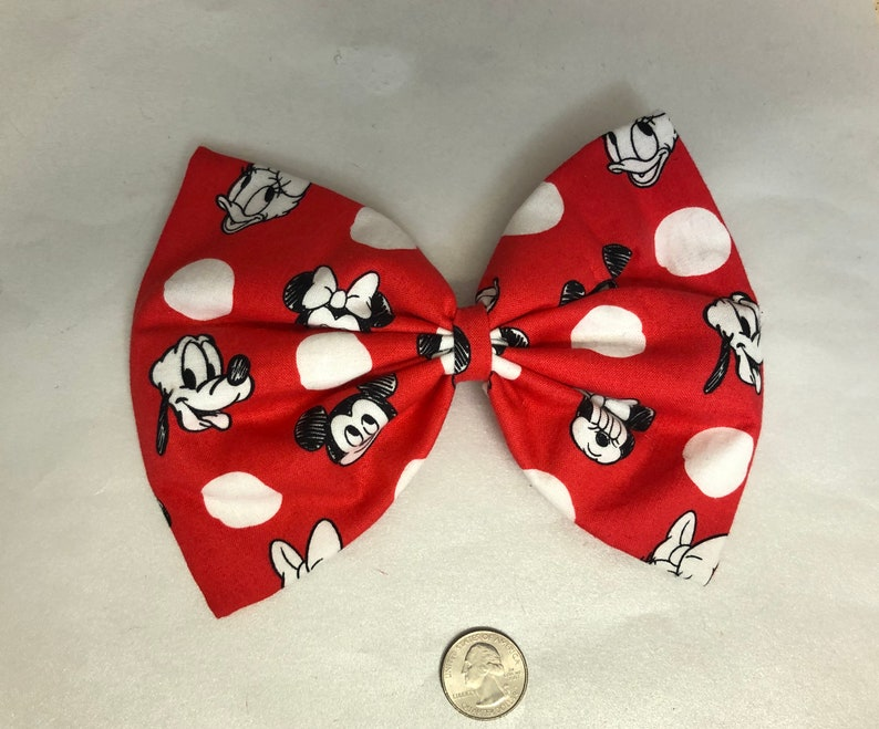 Mickey and friends large hair bow image 0