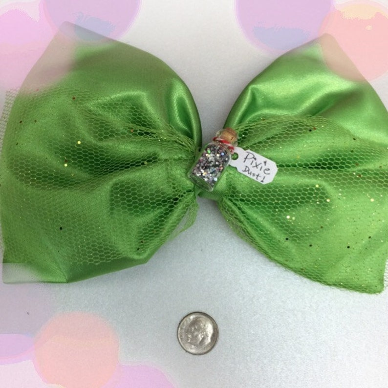 Disney Bound Tinkerbell inspired hairbow image 0