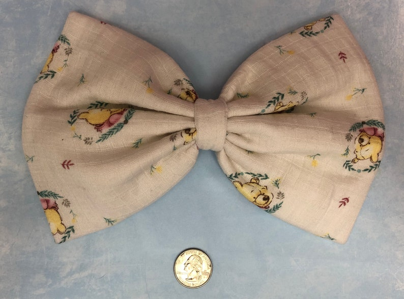 Winnie the Pooh large hair bow image 0