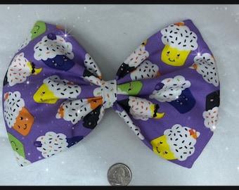 Halloween cupcakes large hair bow