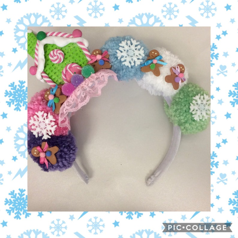 Gingerbread Pom Pom headband image 0