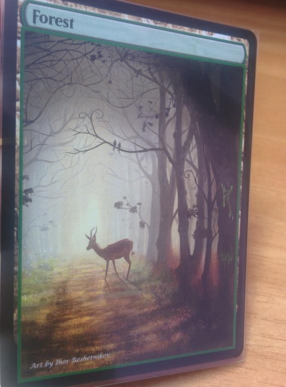 1x Forest #10 Extended Textless Full Art Custom Altered Basic Land MTG