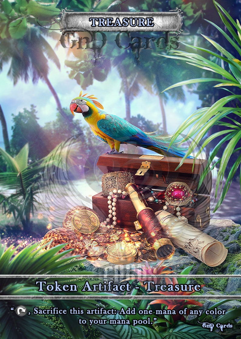 3x Treasure #2 Custom Altered Tokens MTG Ixalan