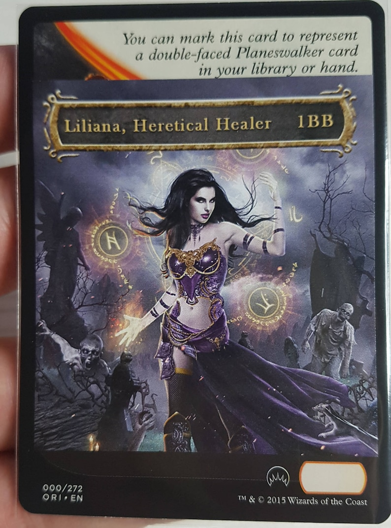 1x Altered Checklist for Liliana, Heretical Healer MTG