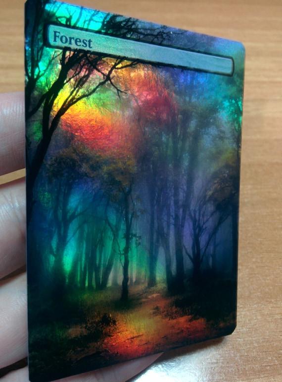 1x *FOIL* Custom Full Art MTG Forest Basic Land Art1
