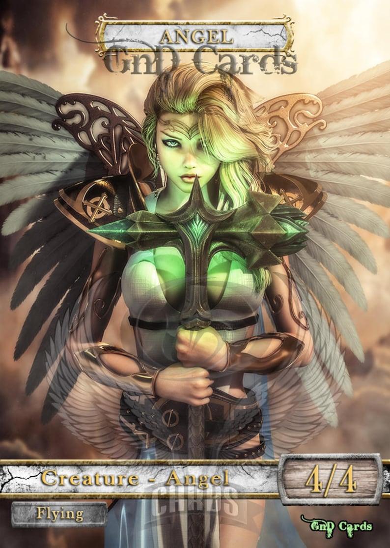 1x Angel #22 *FOIL LAMINATED* Custom Altered Tokens M19 for Resplendent Angel