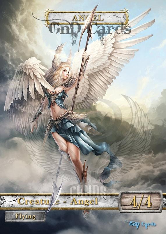 1x Angel #23 *FOIL LAMINATED* Custom Altered Tokens M19 for Resplendent Angel