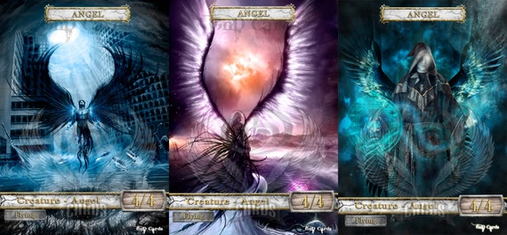 Angel tokennon-foilMTG altered full art custom token