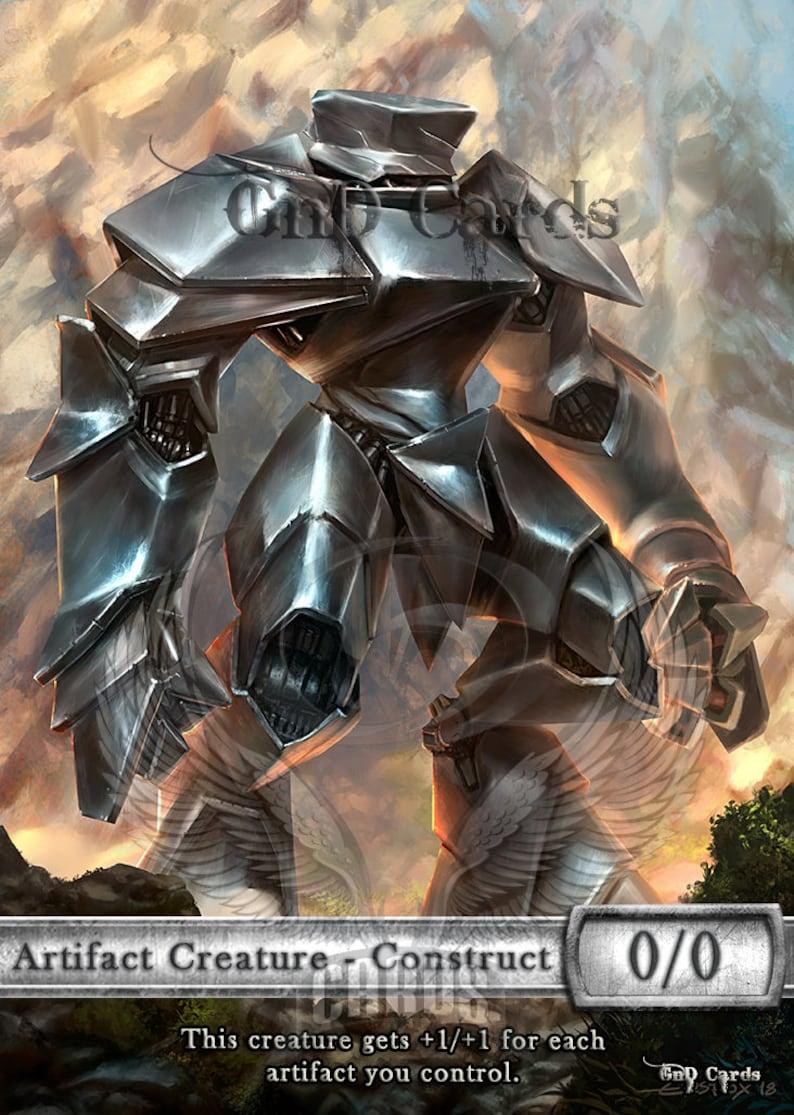 MTG for Blade Splicer 3x Golem #3 Custom Tokens Kaladesh