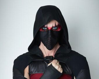 Cyberpunk shrug , wasteland hooded sleeves with mask -  SH60 Man Q6