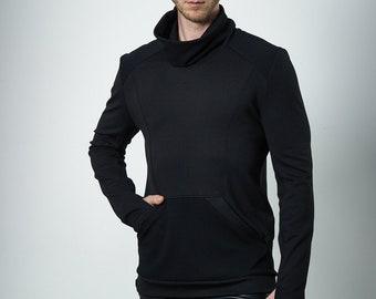 Cyberpunk sweater futuristic clothing for men, turtleneck sweater - 868 M