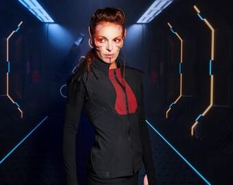 Cyberpunk vest, 36 eu softshell fabric, futuristic clothing - WV-168