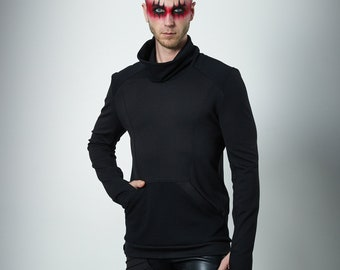Cyberpunk sweater futuristic clothing for men, turtleneck sweater - 868