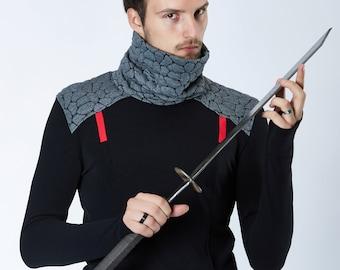 Black sweater Futuristic clothing turtleneck sweater star wars sweater sci-fi clothing cyberpunk clothing sci-fi- BU2 grey