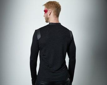 V-neck shirt, thumbhole sleeve pullover - NAR 3