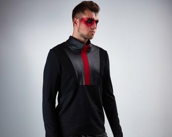 Cyberpunk shirt, black sweater alternative clothing - D18 m