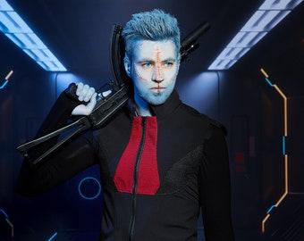 Cyberpunk vest, softshell fabric, futuristic clothing - MV-168