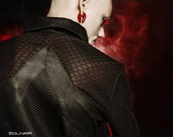 Sith jacket, faux leather futuristic jacket honeycomb - MJJ-389