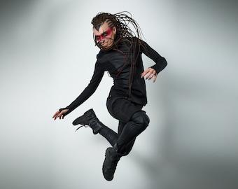 Cyberpunk sweater thumb holes shirt futuristic clothing cyberpunk for woman -CC2 Q6 woman