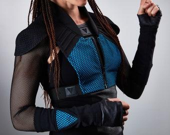 Cyberpunk armor futuristic vest holster - 488 woman