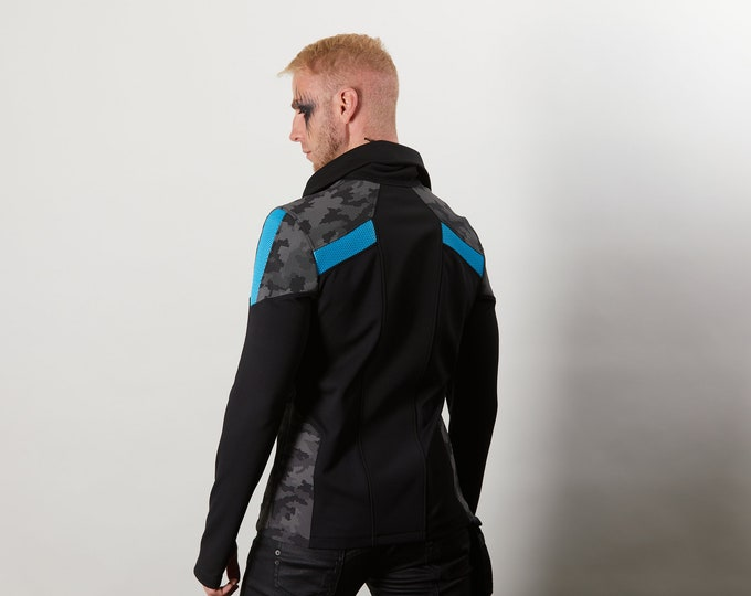 Featured listing image: PS4-R-M Cyberpunk black jacket
