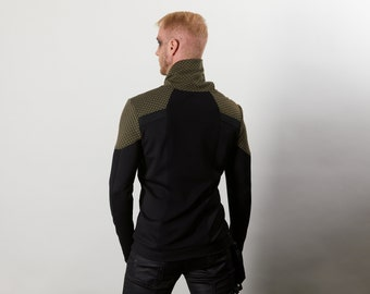 HS man sweater in military green