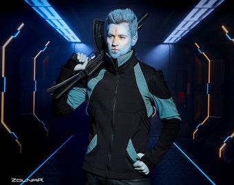 Cyberpunk jacket, size M soft shell fabric, futuristic clothing - MJ-214