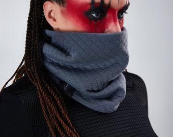 Gray cowl scarf Eternity scarf chunky neck warmer, winter accessories - SC- tex gr