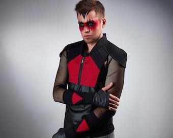 Cyberpunk armor cosplay futuristic vest holster - 488 man