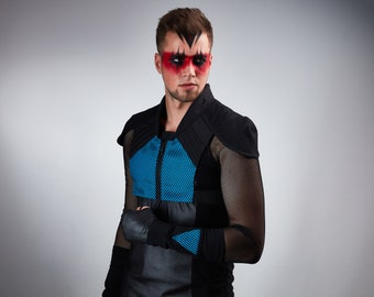 Black cyberpunk armor futuristic vest holster - 488 man