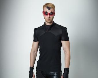 Cyberpunk men's shirt black cosplay clothes - LIA man