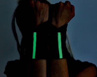 Rave wear armband glow in the dark cyberpunk clothing wrist tattoo cover up  bracelet festival clothing - WW-G