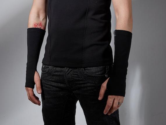 Hand Warmers Biking Gloves Tattoo Cover Black Gloves For Men Etsy