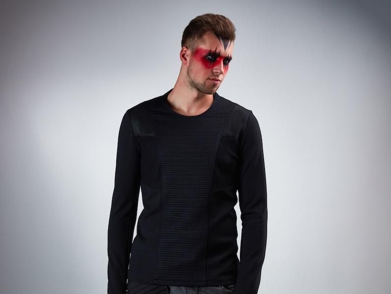 Cyberpunk sweater thumbhole sleeves futuristic clothing  CC1 image 0